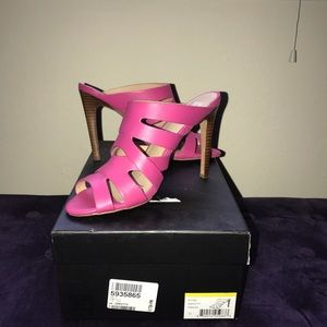 Shoes - Joes leather hot pink slides
